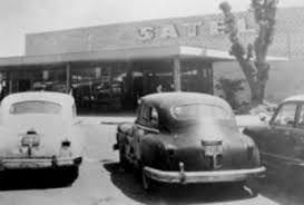 Imagen de una de las entradas al centro comercial Plaza Satélite. Foto tomada en los 60's.