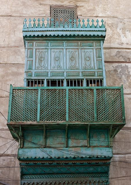 Old ottoman houses in Jeddah - Saudi Arabia by Eric Lafforgue    (Source: Flickr / mytripsmypics)    Tags: saudi arabia window windows door doors balcony arabic middle east architecture travel