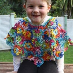 Mia's Poncho was crocheted in Adriafil Knitcol.