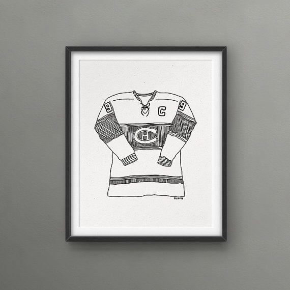 Canadiens de Montréal Hockey team / Maurice Richard's shirt / 8x10 Art Print // Love/Hate Montreal