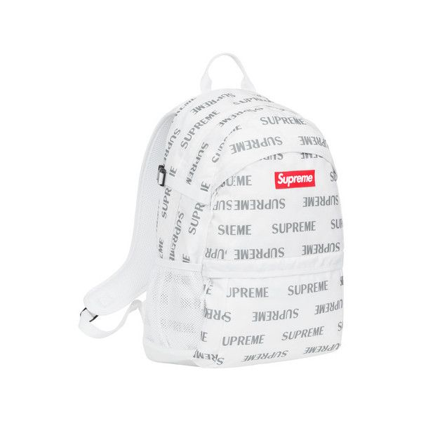 Supreme 3M Reflective Repeat Backpack ($158) ❤ liked on Polyvore featuring bags, backpacks and 3m