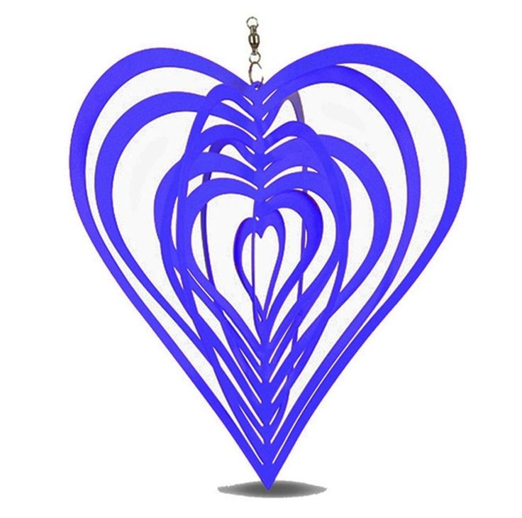 Metal Hanging Garden Wind Spinner Blue Heart Steel Garden or Home Ornament #Gardens2you #Contemporary