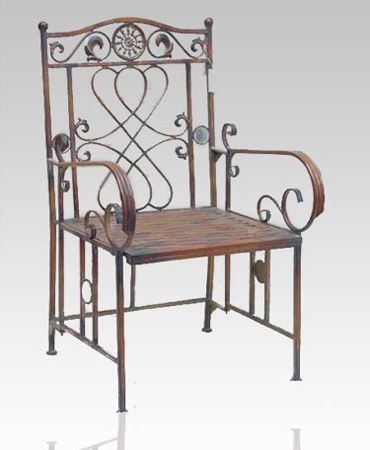 Wrought Iron Furniture, Chairs And Benches, Modern Interior Decorating Ideas