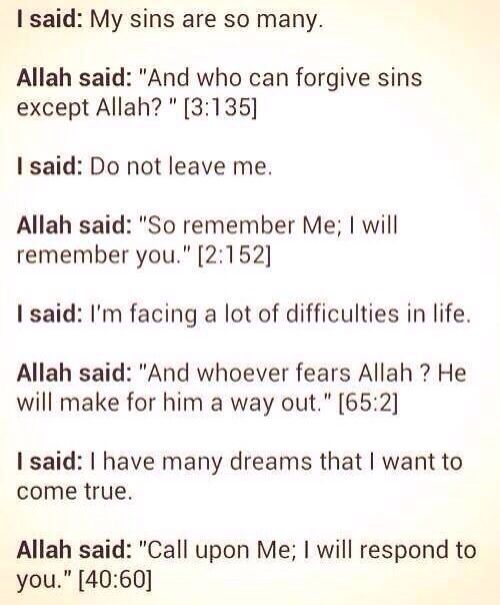 Conversation with Allah. #Quran #Belief #Islam