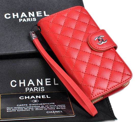 Chanel iPhone 5 Case Nappa Leather Red