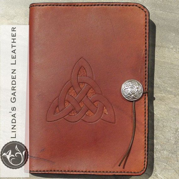 Handmade Leather Personalized Kindle Fire HDX 7 Cover  This genuine leather cover was entirely hand made by me, from cutting, tooling, and