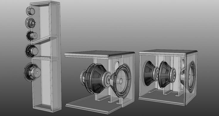 Speaker Cutaway View With Enclosures Cut Away