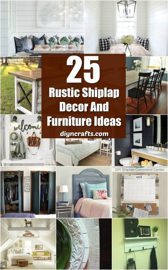 25 Rustic Shiplap Decor And Furniture Ideas For A Farmhouse Look