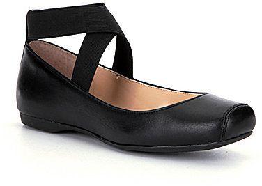 Jessica Simpson Mandalaye Strappy Square-Toe Ballet Flats - $69.00