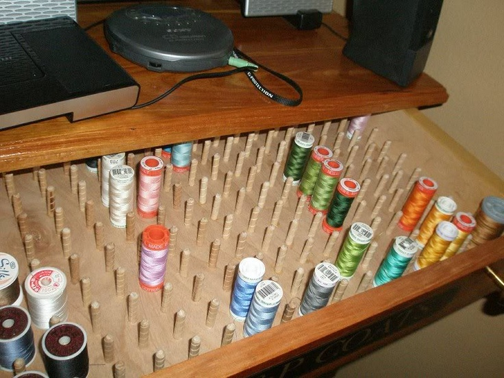 Find This Pin And More On Quilt Room: Thread Storage By Caroldvorakking.