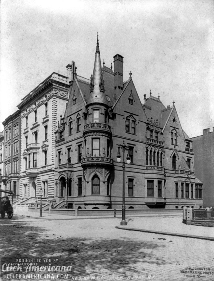 American socialites, William Kissam Vanderbilt, and his wife Alva's, NYC mansion. Located at: 660 Fifth Avenue - NYC, c.1903, during America's Gilded Age. ~ {cwl}