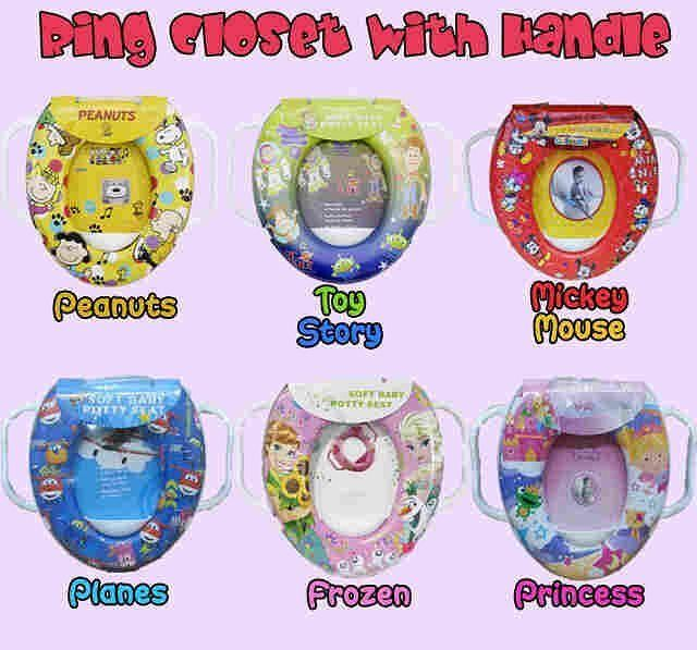 Potty seat with handle Harga 63rb ready: peanuts, toy story, mickey, planes, frozen, princess #pottyseat #pottyseatmurah #ringcloset #ringclosetanak #ringclosetmurah