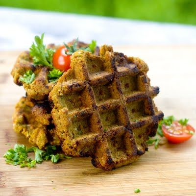 falafel made in a waffle iron! frying is such a pain - it's why we rarely make falafel even though we love it. i must try this