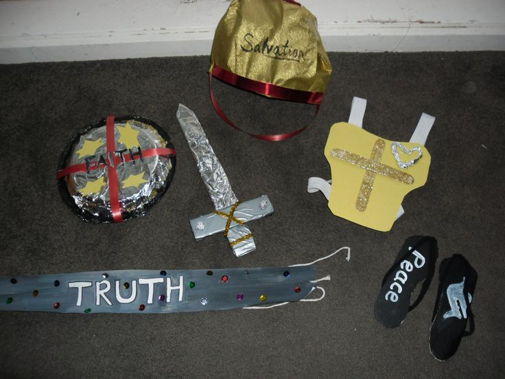 Designing armour of God crafts for kids