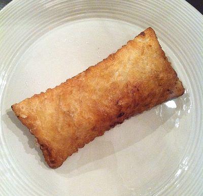 Recept på äppelpaj liknande Mc Donalds. Denna med smördeg.