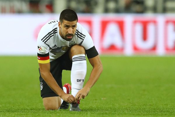 Sami Khedira of Germany looks on during the international friendly match between Germany and France at RheinEnergieStadion on November 14, 2017 in Cologne, Germany.