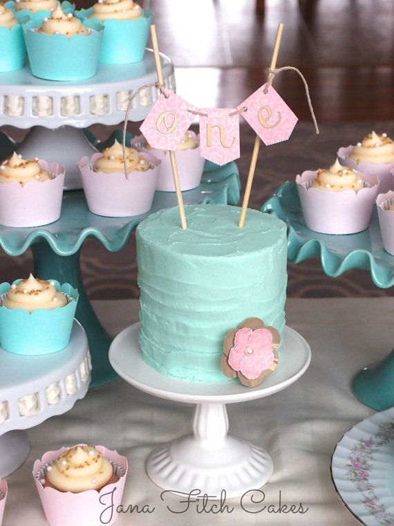 Smash cake banner for one year old, pink and gold or custom colors, girl or boy