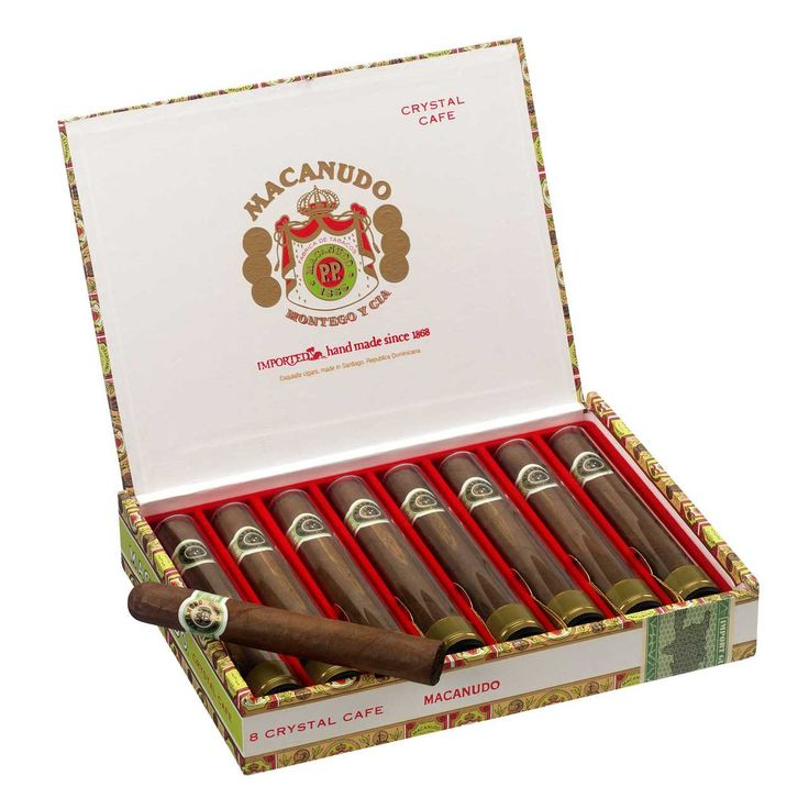 Shop Now Macanudo Crystal Tube Cigars - Natural Box of 8 | Cuenca Cigars  Sales Price:  $59.42