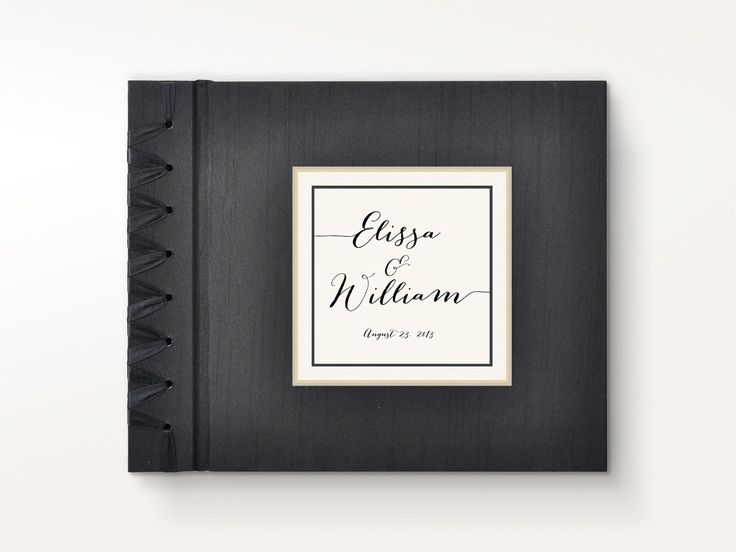 Custom Personalized Photo Album - Calligraphy