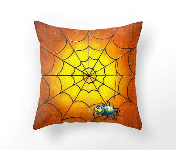 Halloween decor pillow cover unique home by UniqueArtHome on Etsy