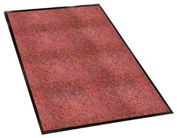 Guardian Silver Series Indoor Walk-Off Floor Mat, 3'x5', Black/Red - transitional - Doormats - Guardian Floor Protection