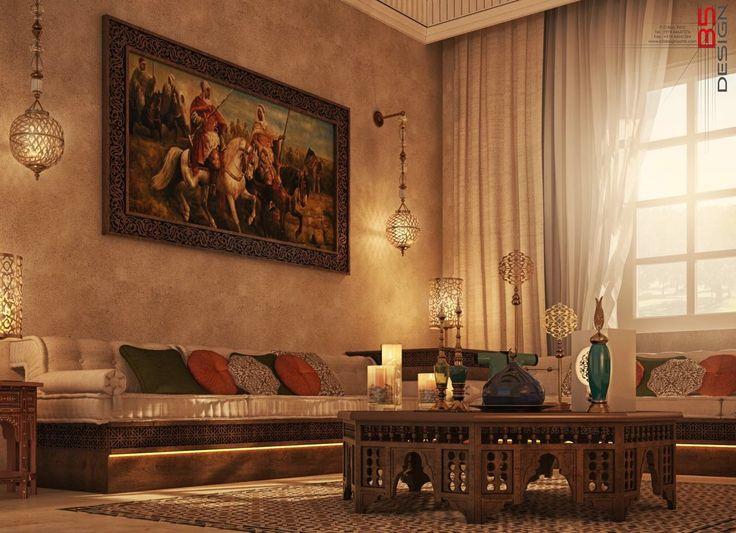 Oriental Sitting Design Private Villa Doha Qatar
