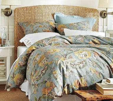 Seagrass Headboard #potterybarn: Guest Bedrooms,  Comforter, Quilts, Master Bedrooms,  Puff, Seagrass Headboards, Guest Rooms, Bedrooms Ideas, Pottery Barns