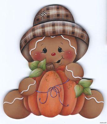Ginger with pumpkin magnet