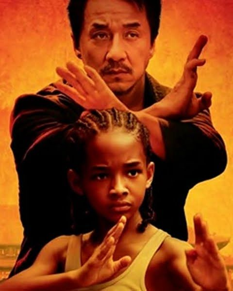 Jackie Chan and Jaden Smith in 2010 the Karate Kid