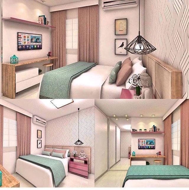 Projeto de quarto feminino