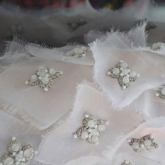 Embellishment - beaded embroidery; sewing; textiles; couture fashion design detail // Annabelle Felix