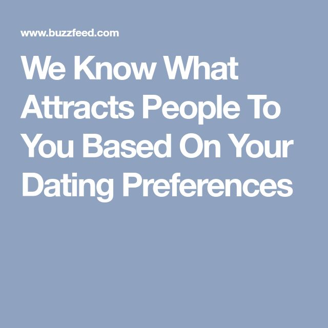 dating preferences buzzfeed