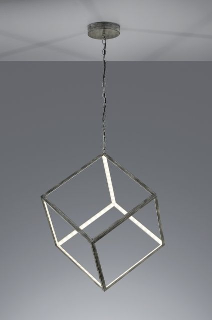 DICE Trio - závesné LED svietidlo - anticky šedý kov - 400mm