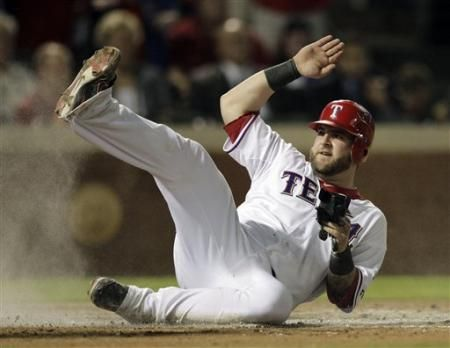 The Texas Rangers' Mike Napoli