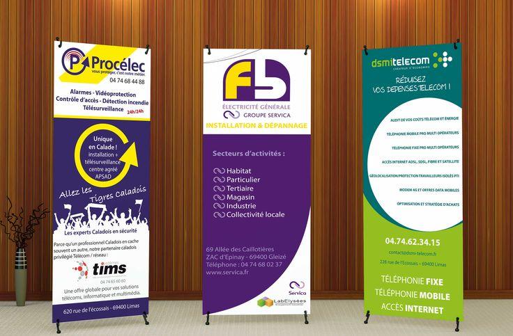 Création X banner Procelec, DSMI Télécom 69400 Limas, FB Electricité 69400 Gleizé. Agence de communication Saori Beaujolais Val de Saône