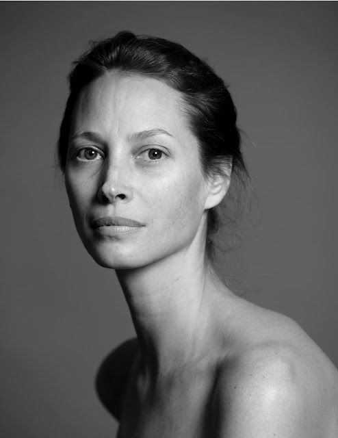 Supermodel Christy Turlington, without a speck of makeup on. Love how honest and beautiful this is.