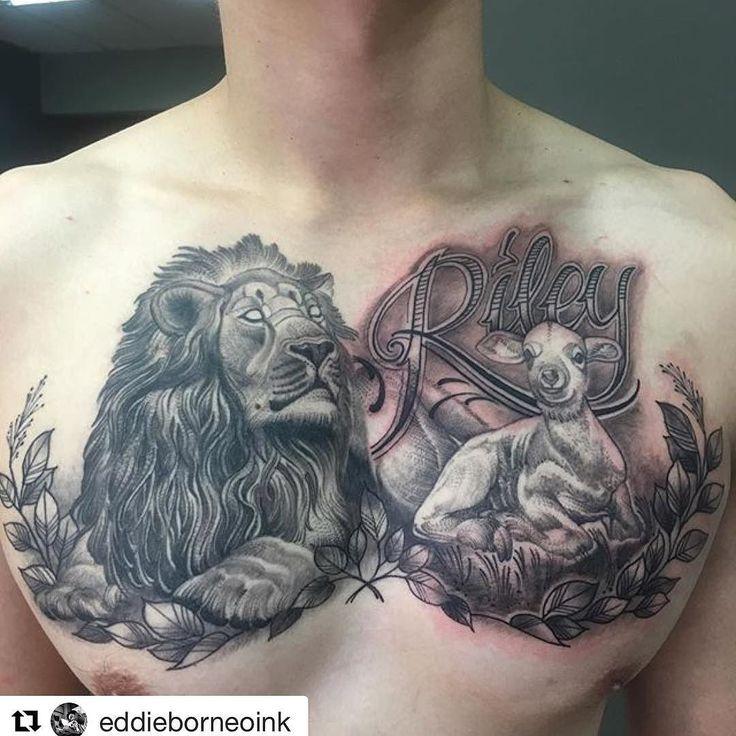 Lion And Lamb Tattoo Ribs 11232 Movieweb