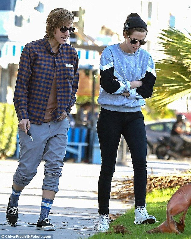 Old friends: Kristen Stewart grabs lunch and a girly catch-up with her former assistant.