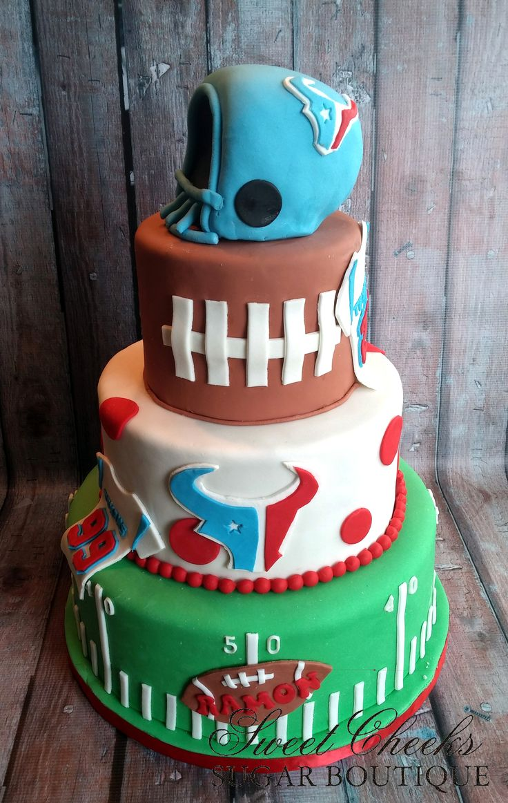 A Texans Themed Birthday Cake For Ramon Happy Birthday Sweet