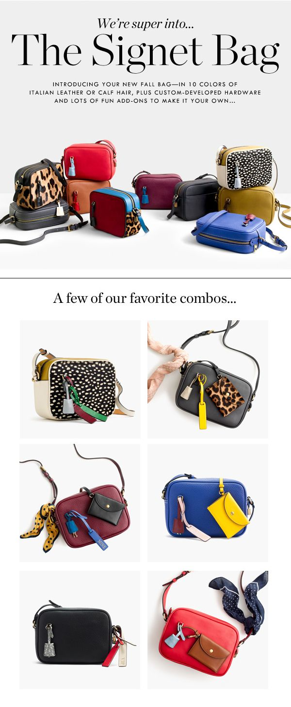 J.Crew – The Signet Bag rstyle.me/... Handmade Handbags & Accessories -