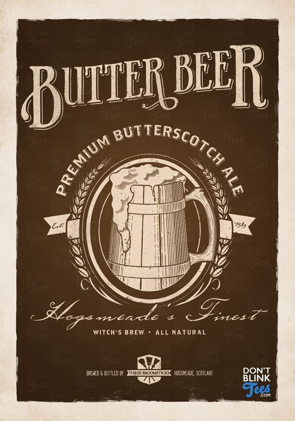 I have a love of Victorian and early 20th century advertisements. So, I shuffled the 'Butterbeer Vintage' design elements to make this poster look more like an old-fashioned ad. I can totally imagi...