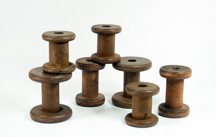 Spulenmix: 3 kleine, 2 mittlere und 2 große Spulen von Spulwerk auf DaWanda.com