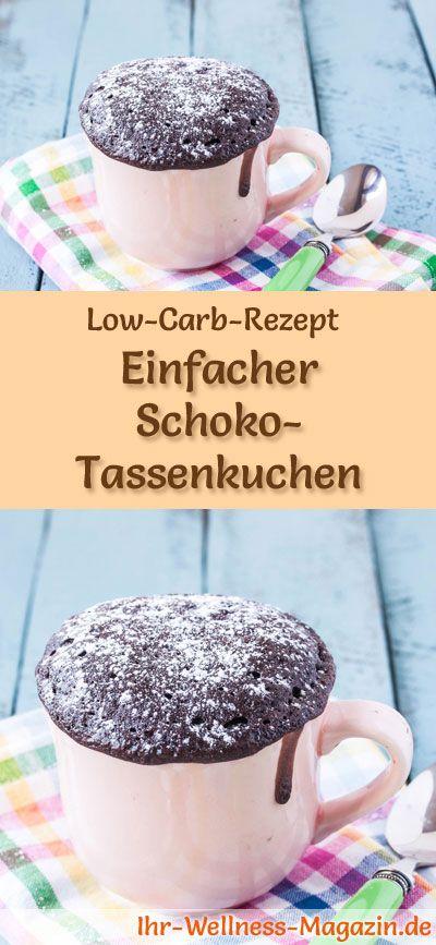Low-Carb-Rezept für Schoko-Tassenkuchen: Kohlenhydratarmes Frühstück - gesund, kalorienreduziert, ohne Getreidemehl ... #lowcarb #frühstück