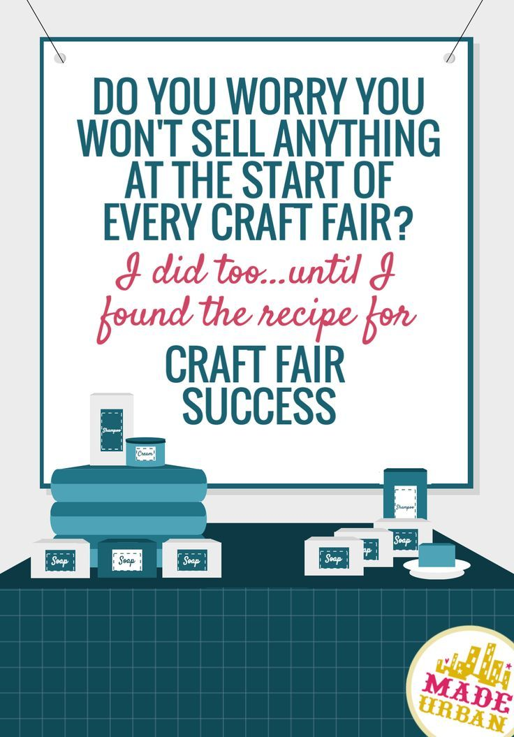 DO YOU WORRY YOU WON'T SELL ANYTHING AT THE START OF EVERY CRAFT FAIR? I did too until I found the recipe for craft fair success. So may elements go into having a successful craft fair, this e-book walks you through ALL of them