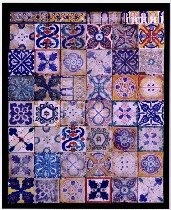 Mosaicos espa oles antiguos estampats pinterest for Spanish decorative tile
