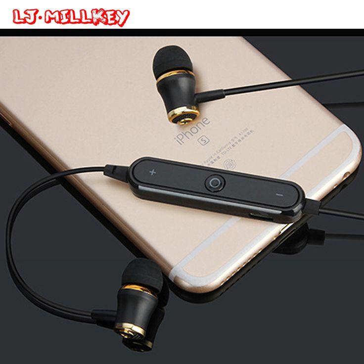 Wireless Bluetooth V4.1 Earphones Fone De Ouvido Stereo Sports Bluetooth Headset Earbuds Sweatproof for Jogging LJ-MILLKEY LZ001 #Affiliate