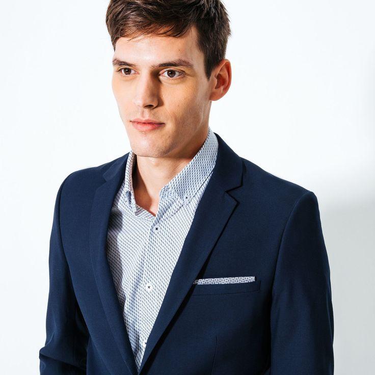Veste de costume slim Bleu Moyen Homme - Jules