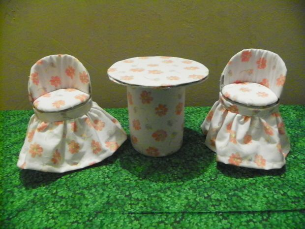 doll furniture from cans