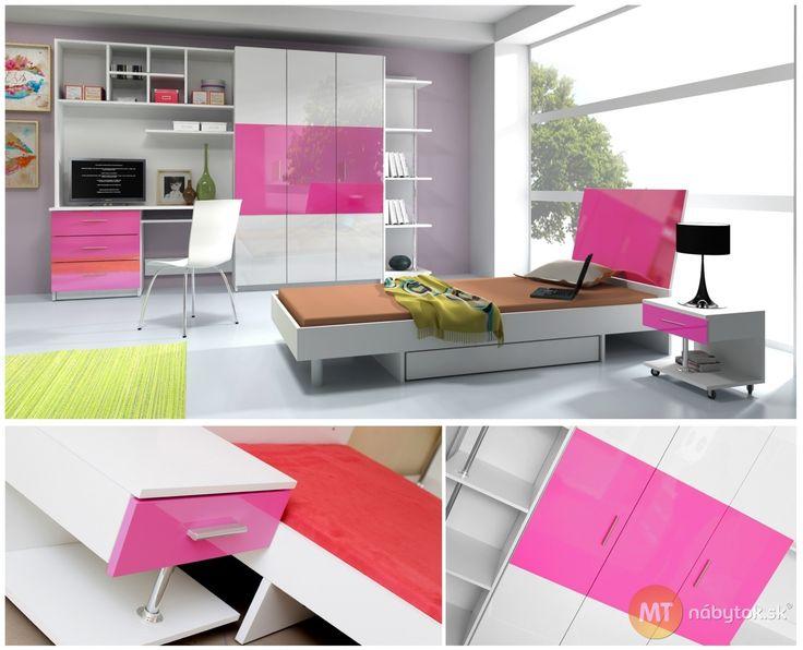 Moderná študentská izba pre dievča aj pre chlapca Adele 2