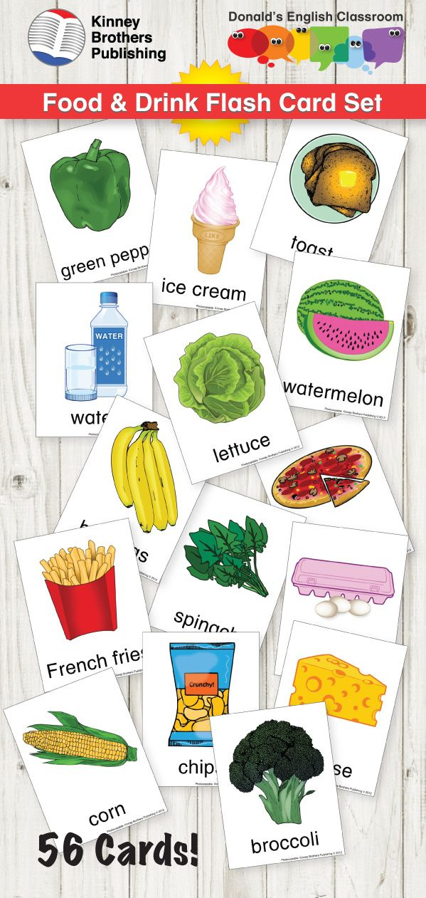 Special Needs Learning Set Picture Flashcards Food /& Drink Flash Cards